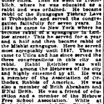 Moses Reichler obituary from May, 18, 1905, Utica Herald Dispatch